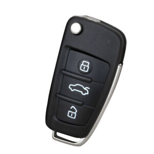 For Audi A2 A3 A4 A6 A8 Tt Q3 Q5 Q7 A1 3 Buttons Remote Car Key Shell Suitable