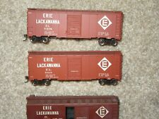 Qty 3 HO SCALE Erie Lackawanna  40 foot box cars