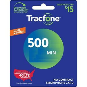 TracFone 500 Minutes Talk Time Refill  Direct Load No physical card to ship