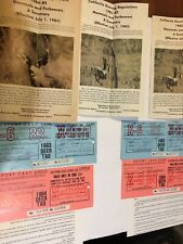 1982-84  California Hunting Regulations. Mammals And Furbearers. + Deer Tags!