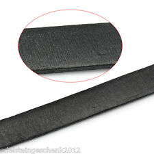 1x2M Schwarz Flach Lederband Lederschnur Lederriemen Schmuck Kordel 10x2mm