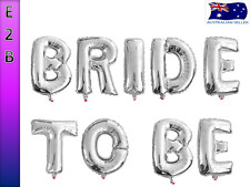 Bride to Be Foil Balloon Bachelorette Hens Night Wedding Shower Party Silver