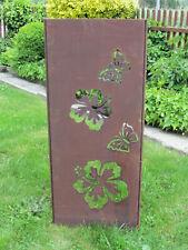 """Gartenschild """"Hibiskus"""" rost braun Höhe ca.115cm, Gartenstecker mit Schriftzug"""