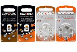 Rayovac Hörgerätebatterien Hörgerät Knopfzelle versch. Größen 13 312 PR41 PR48