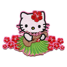 Hello Kitty Dancing With Ukulele Iron On Embroidered Patch