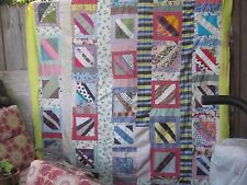This pops & rocks ! antique folk art quilt TOP,begs to be hung,twin /double, S.C