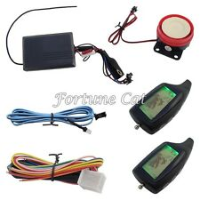 Two Way Motorcycle Alarm System Remote Start Stop Engine Long Distance Control
