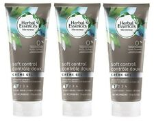 (3) Herbal Essences Bio-Renew  Soft Control Creme Cream Hair Gel 6 oz each Frizz
