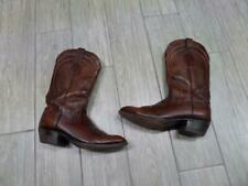 """LUCCHESE brown 14"""" leather cowboy boots 10 D"""