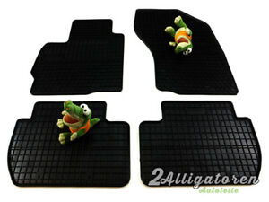 4 x Gummi-Fußmatten ☔ für CITROEN C-Crosser seitdem 2007