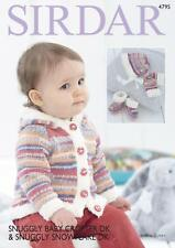 Sirdar 4795 Knitting Pattern Jacket Mittens Bonnet in Snuggly Baby Crofter DK