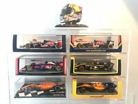 Carlos Sainz Jr Formula One Racing Cars Collection 1/43 and Helmet