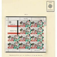 COLECCION SELLOS NUEVOS TEMA EUROPA CEPT MINIPLIEGOS 1982 AL 1984 MINI SHEETS