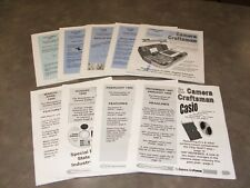 Back Issues of The New Camera Craftsman, newsletter of camera repair, 9 issues.