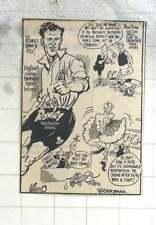 1950 Berryman Cartoon, Jack Rowley, Manchester United
