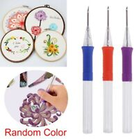 DIY Embroidery Pen Hand Embroidery Needle Weaving Punch Needle Craft Tool  US