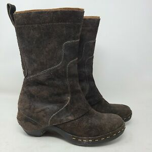 Merrell Luxe Tall Boot Womens 10.5 Brown Leather Zip Up Shoes J56072