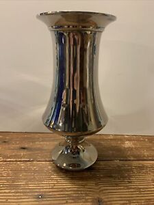pottery barn silver plates vase