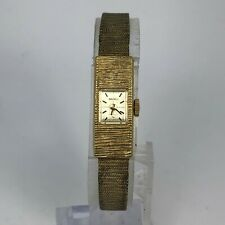 Read Seiko Womens 1520-3359 Gold Tone Mechanical Wind Up Bracelet Watch