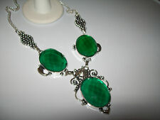 LOVELY GREEN QUARTZ COCKTAIL NECKLACE