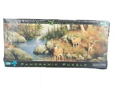 Hautman Brothers Collection Puzzle Buffalo Games Deer Landscape 750 pc Panoramic