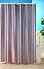 RAINBOW STRIPE WASHABLE POLYESTER 180 X 180CM SHOWER CURTAIN