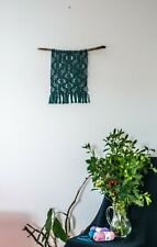 Macrame Wall Hanging, Color Woven Tapestry, Geometric Bohemian Decor, Fiber Art