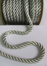 9MM Thick Light Silver Grey Twisted Cord / Rope / Trim - Per Yard (T1094)