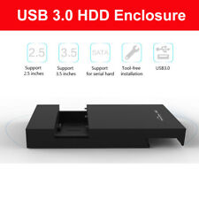 3.5' HDD Enclosure USB 3.0 to SATA External Interface Case Caddy For Notebook PC