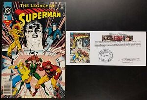 Superman: The Legacy of Superman (1993) #1 SIGNED Ande Parks with Notarized WOS