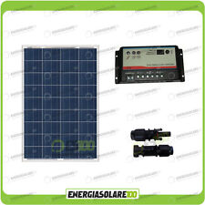 Kit Solare Camper 100W 12V Regolatore Regduo 10A doppia batteria MC4