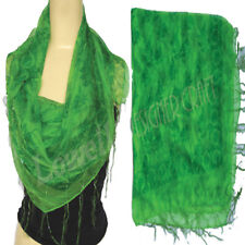 Scarf Poly Chiffon  Hijab Crepe Soft Georgette Summer Perfect Square Wrap green