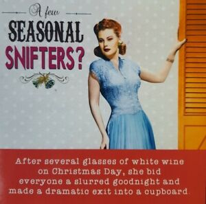 """Emotional rescue Ladies who Lunch Humour Funny Christmas Card """"Seasonal..."""
