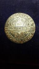 UNITED STATES RAILROAD ADMINISTRATION PATROLMAN BADGE WW1 ERA