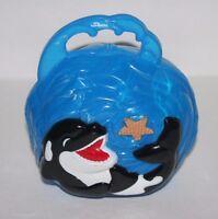 Vintage Seaworld Purse Tote Box Shamu , Blue Plastic, 2006, Sea World, Retired