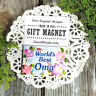 Worlds Best OMA * GIFT MAGNET *  Decorative Greetings * All Grandparent Names !