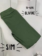 Lularoe S/M Kids Leggings SOLID Olivine Green NEW