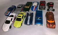 Hot Wheels Matchbox Maisto Lot of 11 Assorted Mixed Cars 1990's to 2000's