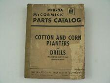 McCormick Parts Catalog International Harvester PLA-3A Cotton Corn Drills 1954