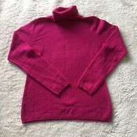 Charter Club 2 Ply Luxury Cashmere Turtle Neck Pullover Sweater Womens Size M
