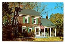 Paine Cottage Postcard New York Rochelle Westchester County Flag Unposted