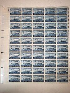 US Stamps SC# 958 Swedish Pioneer 3c sheet of 50 MNH 1948