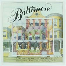 Vintage 1980 Baltimore A Patchwork Quilt Neighborhoods Travel Art Exhibit Poster