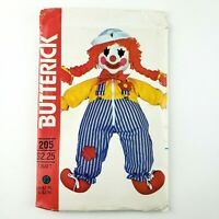 Vintage Butterick Pattern 205 Clown Doll with Jumpsuit & Hat