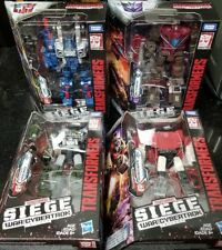 Transformers War For Cybertron Siege Deluxe COG HOUND SIDESWIPE SKYTREAD INSTOCK