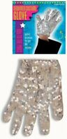 Michael Jackson 80s Sequined Glove Fancy Dress Fancy Dress Costume Silver Sequin