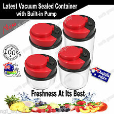 Airtight Vacuum Pump Kitchen Storage Container Canister Bag Stackable