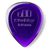 Dunlop 474P3.0 Stubby Jazz Dark Purple Guitar Picks Player's Pack, 6-Pack, 3.0mm