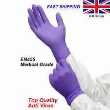 More details for disposable gloves nitrile powder/latex free multi sizes for personal protection