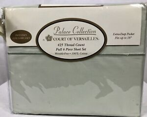 Palace Collection Court Of Versailles Full sheet set New 450 Thread Count Sage